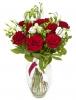 Růže s eustomou