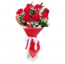 Červené růže se závojem